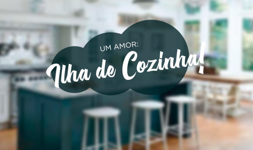 Um amor: ilha de cozinha!