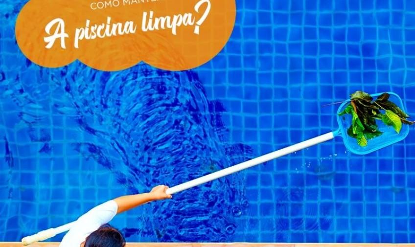Como manter a piscina limpa no verão?